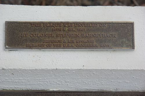Dedication Plaque : November 2013