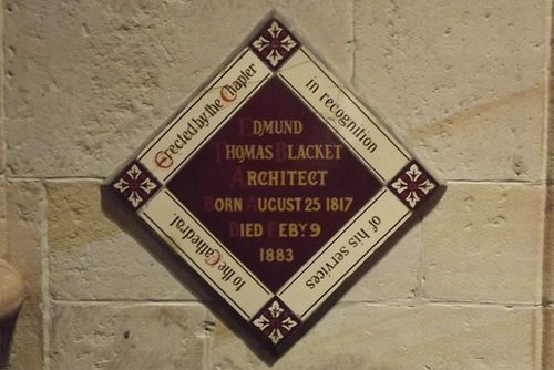 Edmund Blacket Plaque : March 2014