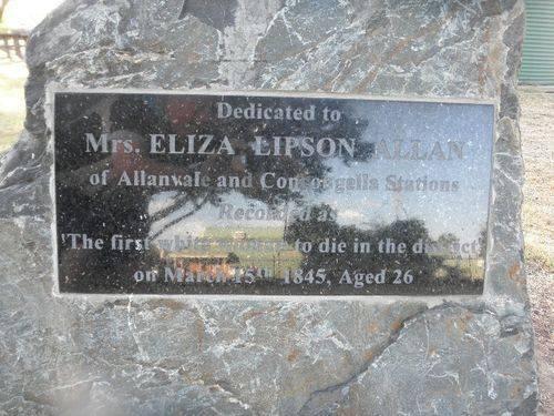 Eliza Lipson Allan Plaque : 08-04-2014