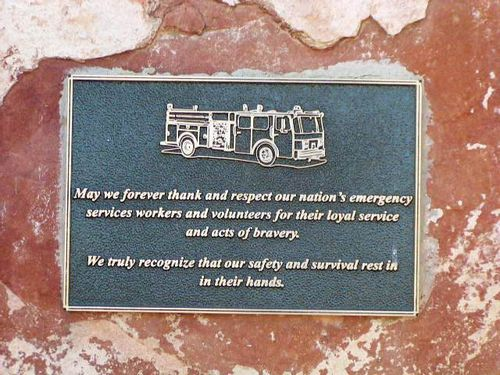 Emergency Workers + Volunteers Plaque