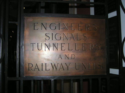 Engineers Tunnellers Signals + Railway Units AIF