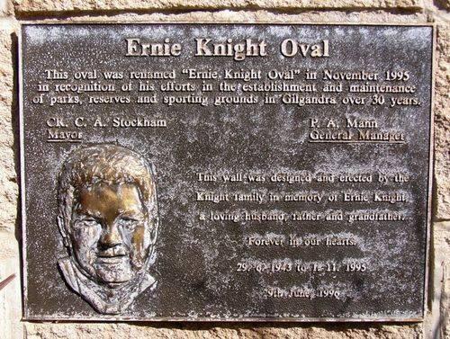 Ernie Knight Plaque : 29_July-2014