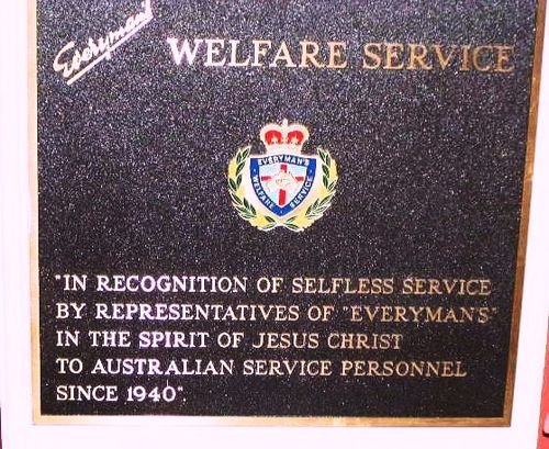 Everymans Welfare Service Plaque