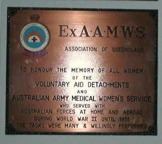 Ex Aust Army Womens Medical Service Plaque