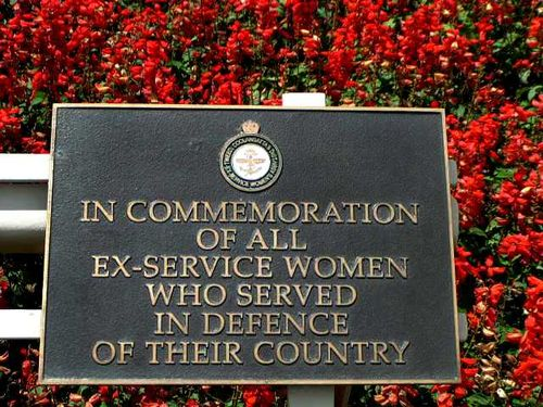 Ex- Service Women Plaque / March 2013