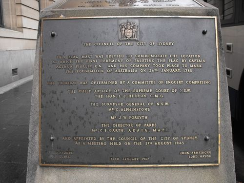 First Flag Ceremony Plaque