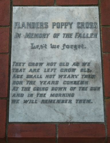 Flanders Poppy Cross : 11-May-2012