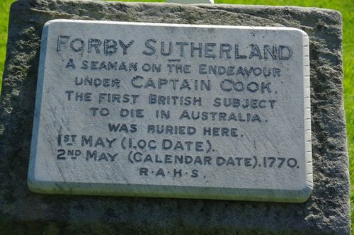Forby Sutherland Memorial Plaque
