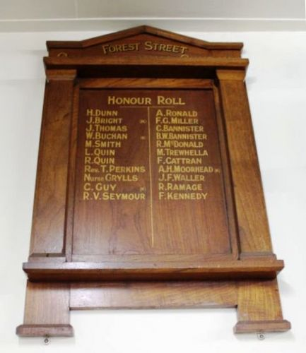 Forest Street Congregational Church Honour Roll : 18-July-2011