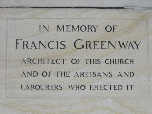 Francis Greenway Plaque Inscription