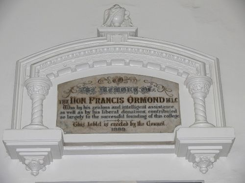 Francis Ormond Memorial Tablet : 8-September-2011