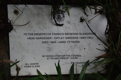 Francis Glencross Plaque : 24-04-2014