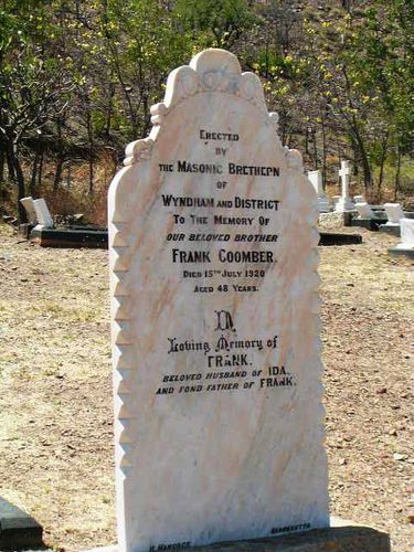 Frank Coomber Headstone