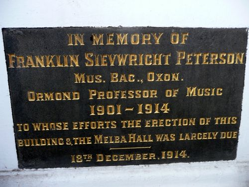 Franklin Sievright Peterson : 30-April-2012