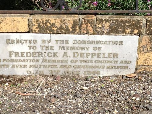 Frederick Deppeler Plaque : December 2013