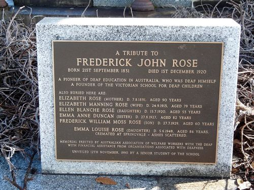Frederick John Rose : 14-June-2013