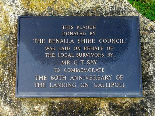 Gallipoli Landing Memorial Plaque : 09-August-2011