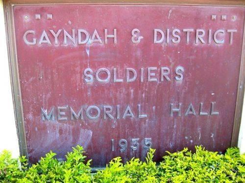 Soldiers Memorial Hall Plaque: 01-10-2009