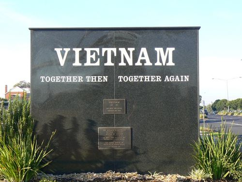 Geelong North Vietnam War Memorial   Rear