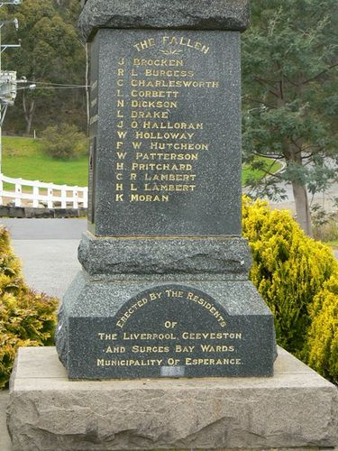 Geeveston Cenotaph