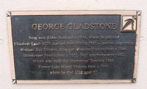 George Gladstone : 29-November-2012