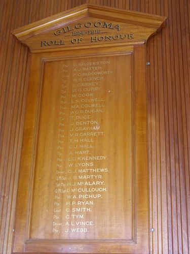 Gilgooma Honour Roll  : 01-August-2014
