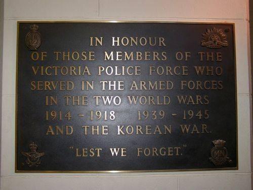 Police Memorial Plaque : 16-04-2014
