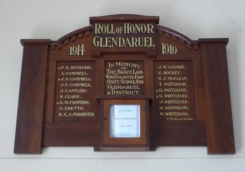 Glendaruel Roll of Honour : 20-March-2011