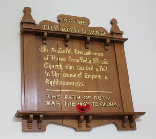 Glenelg Uniting Church Bath Street  World War Two Honour Board : 20-December-2012
