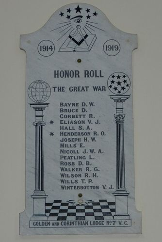 Golden and Corinthian Honour Roll : 28-March-2013