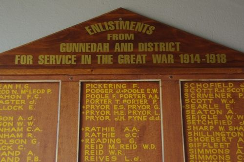 Honour Board Closeup : July 2014