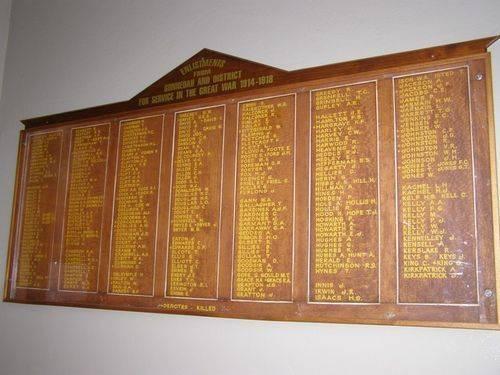 Gunnedah Honour Roll 2 : 16-August-2014