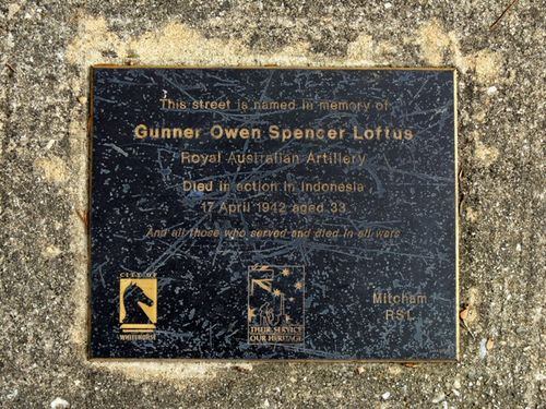 Gunner Owen Spencer Loftus : 28-November-2011