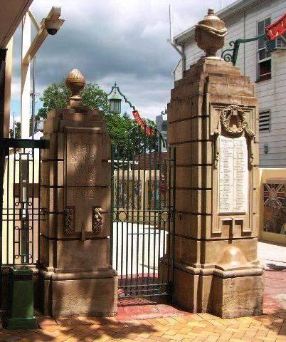Gympie Memorial Gates -Left Pillars / March 2013