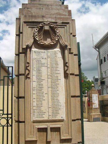 Gympie Gates Left Pillar Honour Roll