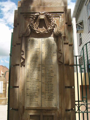 Gympie Gates Right Pillar Honour Roll