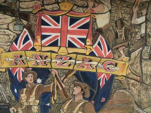 Memorial Laneway Great War Mural  Detail / March 2013