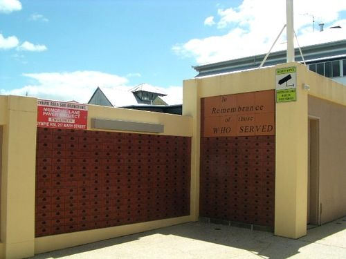 Gympie RSL Memorial Wall -Left Side / March 2013
