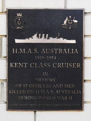 HMAS AUSTRALIA Plaque