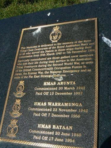 HMAS Arunta Warramunga Bataan
