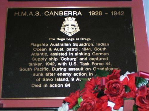 HMAS Canberra Plaque