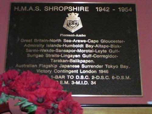 HMAS Shropshire Plaque