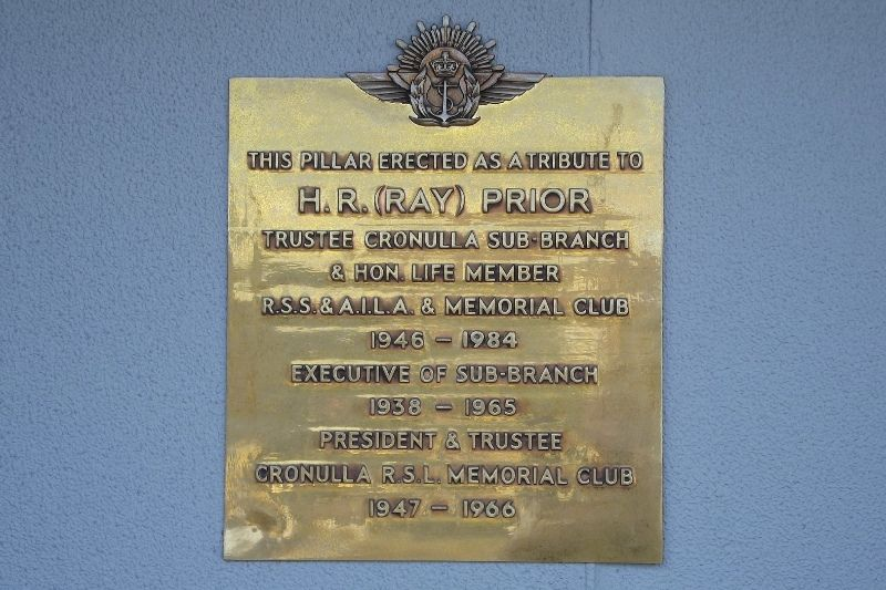 Ray Prior Plaque : September 2014