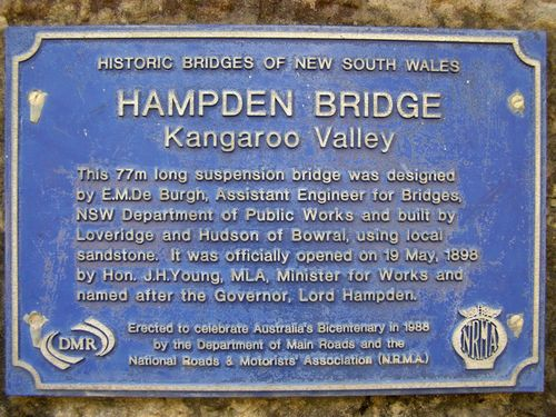 Hampden Bridge Bicentennial Plaque : 20-March-2013
