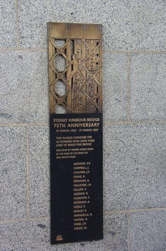 Harbour Bridge Workers Plaque / April 2013
