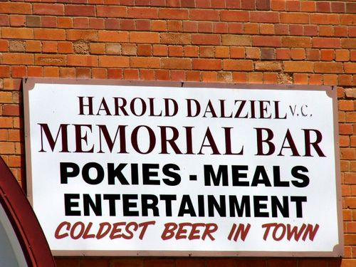 Harry Dalziel VC Memorial Bar Sign