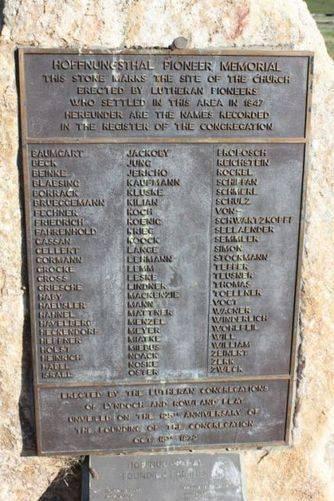 Hoffnungsthal Pioneer Memorial : 23-August-2011