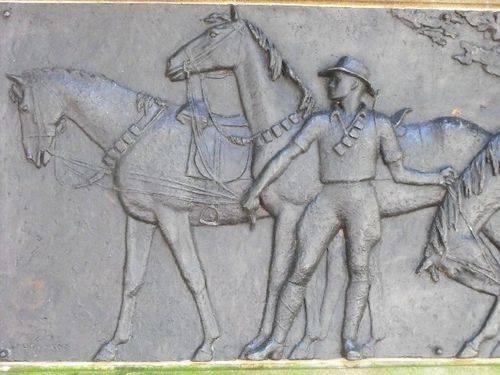 Horses of the Desert Mounted Corps Frieze Closeup