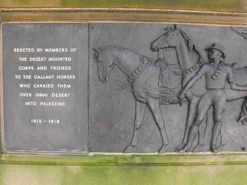 Horses of the Desert Mounted Corps Left Inscription