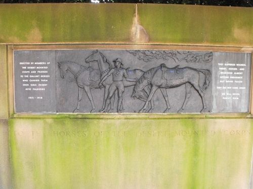 Horses of the Desert mounted Corps Memorial 2
